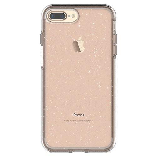 OtterBox Symmetry Series Clear Stardust Phone Case for Apple iPhone 7 and 8 Plus Ultra Slim Profile Precision Design Raised Screen Bumper Drop Protect