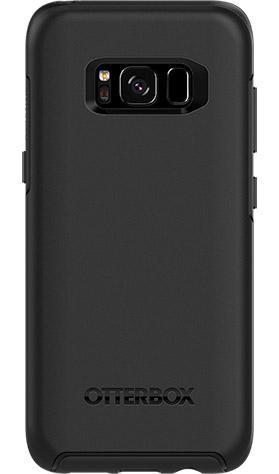 OtterBox Symmetry Series Black Phone Case for Samsung Galaxy S8 Ultra Slim Profile Precision Design Raised Screen Bumper Drop Protection