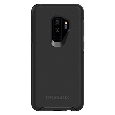 OtterBox Symmetry Series Black Phone Case for Samsung Galaxy S9 Plus Ultra Slim Profile Precision Design Raised Screen Bumper Drop Protection