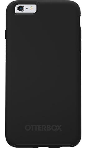OtterBox Symmetry Series Black Phone Case for Apple iPhone 6 and 6S Ultra Slim Profile Precision Design Raised Screen Bumper Drop Protection