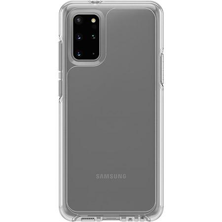 OtterBox Symmetry Series Clear Phone Case for Samsung Galaxy S20 Plus Scratch Resistant Drop Proof Slim Design Raised Beveled Edge Screen Bumper