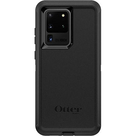 OtterBox Defender Series Rugged Protection for Samsung Galaxy S20 Ultra 5G Black 3 Layer Protection Screenless Design Protective Port Covers