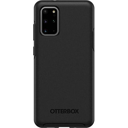 OtterBox Symmetry Series Black Phone Case for Samsung Galaxy S20 Plus 5G Clear Scratch Resistant Drop Proof Slim Design Raised Beveled Edge