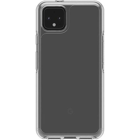 OtterBox Symmetry Series Clear Phone Case for Google Pixel 4 Clear Scratch Resistant Drop Proof Slim Design Raised Beveled Edge Screen Bumper