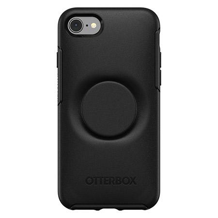 OtterBox Pop Symmetry Series Phone Case for Apple iPhone 7 8 and iPhone SE 2nd Generation Black Slim and Protective Integrated with a Popsockets Pop G