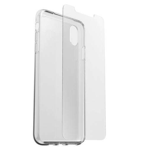 OtterBox Clearly Protected Skin Case and Alpha Glass Screen Protector for Apple iPhone XS Max Ultra Thin