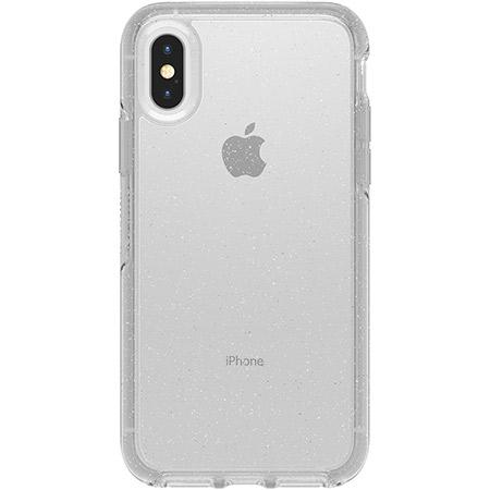 OtterBox Symmetry Series Clear Stardust Phone Case for Apple iPhone X XS Ultra Slim Profile Precision Design Raised Screen Bumper Drop Protection