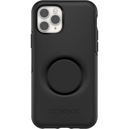 OtterBox Pop Symmetry Series Phone Case for Apple iPhone 11 Pro Black Slim and Protective Integrated with a Popsockets Pop Grip One Piece Design