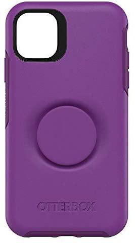 OtterBox Pop Symmetry Series Phone Case for Apple iPhone 11 Purple Lollipop Slim and Protective Integrated with a Popsockets Pop Grip One Piece Design