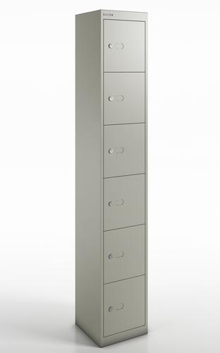 Qube by Bisley 6 Door Locker 1800mm 457mm Depth Goose Grey BS0033