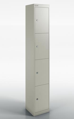 Qube by Bisley 4 Door Locker 1800mm 457mm Depth Goose Grey BS0032