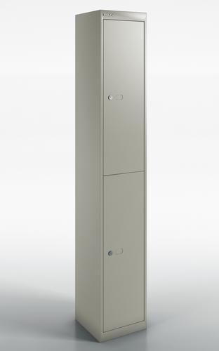 Qube by Bisley 2 Door Locker 1800mm 457mm Depth Goose Grey BS0031
