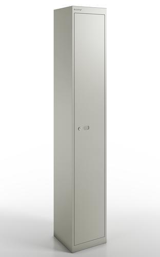 Qube by Bisley 1 Door Locker 1800mm 457mm Depth Goose Grey BS0030