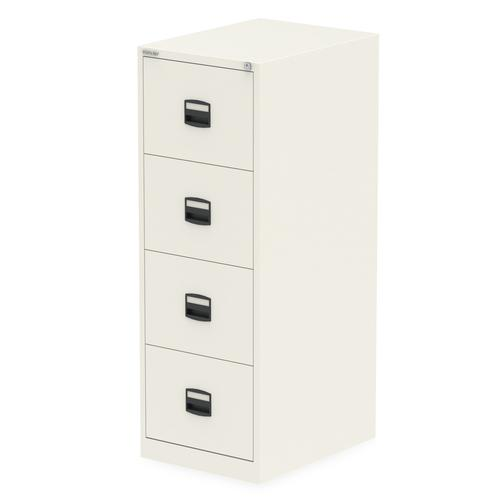 Qube by Bisley 4 Drawer Filing Chalk White BS0011