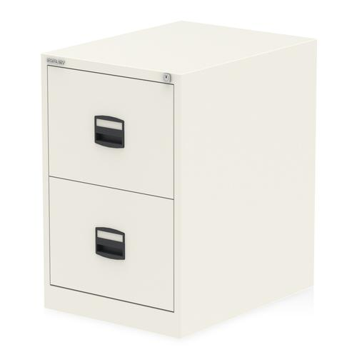 Qube by Bisley 2 Drawer Filing Chalk White BS0005