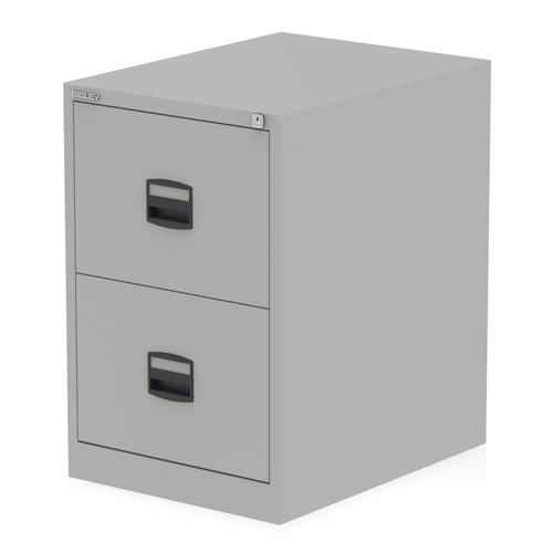 Qube by Bisley 2 Drawer Filing Cabinet Goose Grey BS0004