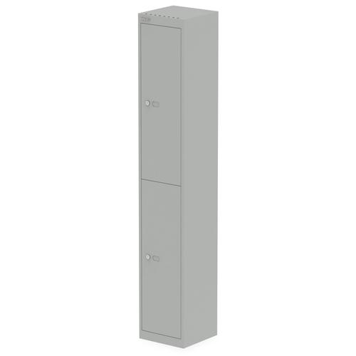 Qube by Bisley 2 Door Locker 1800mm 305mm Depth Goose Grey BS0017
