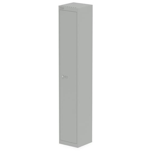Qube by Bisley 1 Door Locker 1800mm 305mm Depth Goose Grey BS0016