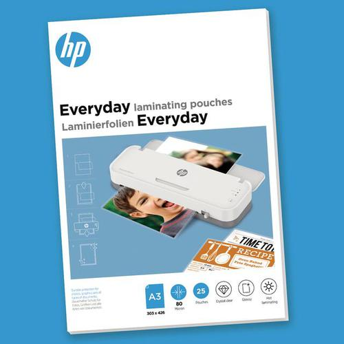HP Everyday Laminating Pouches A3 80 micron Pack 25 9152