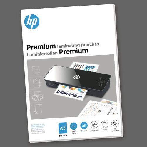 HP Premium Laminating Pouches A3 250 micron Pack 25 9128