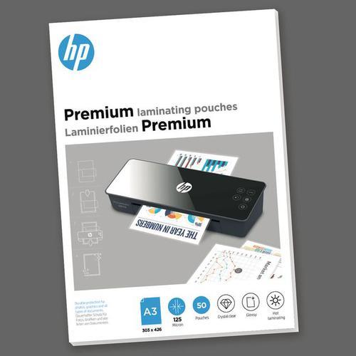 HP Premium Laminating Pouches A3 125 micron Pack 50 9127