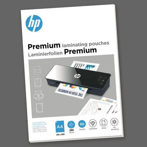 HP Premium Laminating Pouches A4 250 micron Pack 50 9125