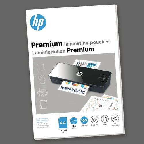 HP Premium Laminating Pouches A4 125 micron Pack 100 9124