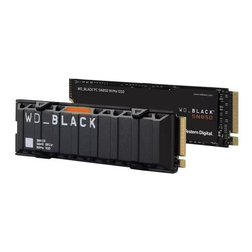 Western Digital SN850 M.2 1TB PCI Express 4.0 NVMe Internal Solid State Drive Black Up to 7000 MBs Read