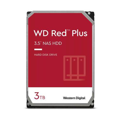 Western Digital WD Red Plus 3TB 3.5 Inch NAS 5400 RPM SATA 6Gbs 128MB Cache Internal Hard Drive