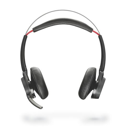 Poly Voyager Focus UC B825 Wireless Bluetooth Stereo Headset Active Noise Cancellation Boom Microphone