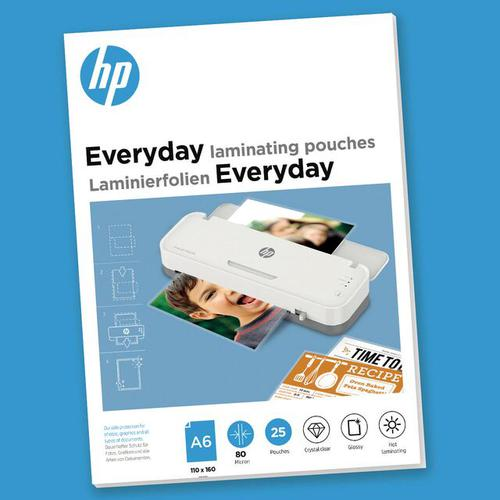 HP Everyday Laminating Pouches A6 80 micron Pack 25 9156