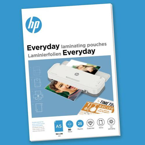 HP Everyday Laminating Pouches A5 80 micron Pack 25 9155