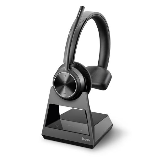 Poly Savi 7310 Office DECT EMEA Wireless Mono Stereo Headset Crystal Clear Sound Effects Boom Microphone