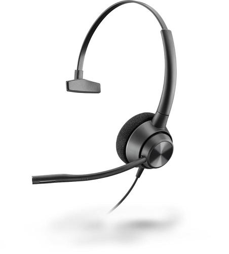 Poly EncorePro 310 Quick Disconnect Wired Mono Headset 50 to 8000 Hz Frequency Response 32 Ohm Impedance Boom Microphone