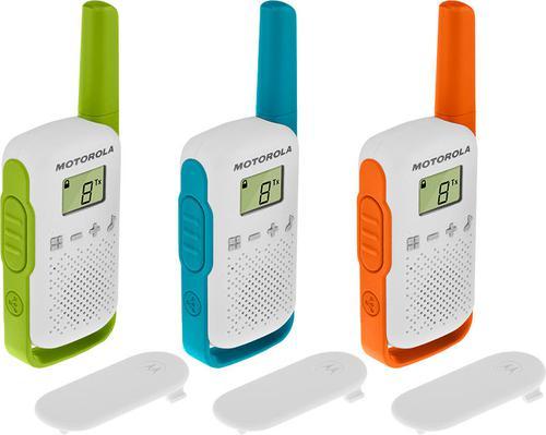 Motorola Talkabout T42 Walkie Talkies Triple Pack Easy Pairing Up to 4km Range 16 Channels Low Battery Warning