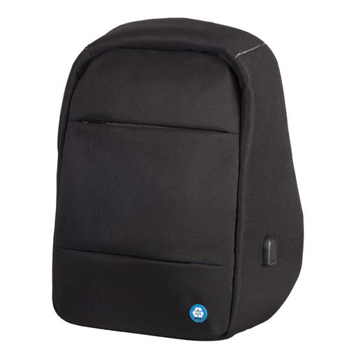 Lightpak ECO Laptop Backpack Made From Recycled PET Black 46200