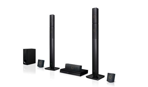 LG LHB645N Bluetooth Blu Ray Home Theatre System 5.1 Channel Surround Sound 1000W 2 Tall Boy and 2 Satellite Speakers Private Sound Mode 2.0