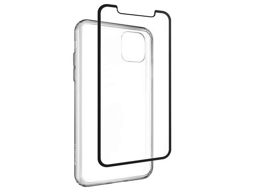 Invisible Shield Tempered Glass Elite Edge Screen Protector and 360 Protection Clear TPU Phone Case for Apple iPhone 11