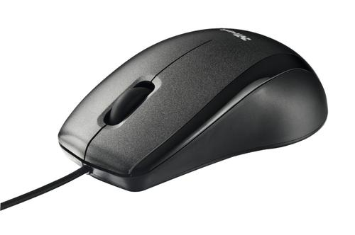 Trust Carve Optical USB 2.0 Wired 800 DPI Mouse 3 Buttons and Scroll Wheel Advanced Optical Sensor 1.4m Cable Length