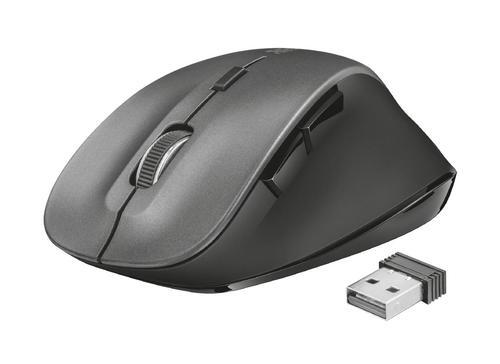 Trust Ravan Right Hand RF Wireless Optical 1600 DPI Mouse Grey 8m Wireless Range 6 Buttons 2.4Ghz