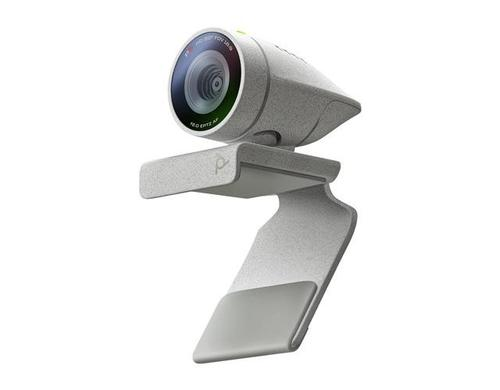 Poly Studio P5 USB 2.0 1080p HD Webcam Grey Auto Focus with 4x Zoom EPTZ 80 Degree Field of View Windows and Mac OS Compatible