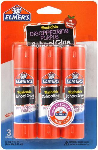 Elmers Disappearing Purple Glue Sticks (Pack 3) 2136613