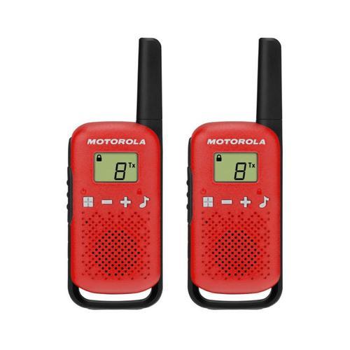 Motorola Talkabout T42 Red Two Way Radio Walkie Talkies 16 Channels LCD Display Twin Pack