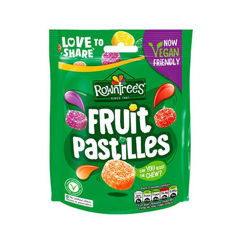 Rowntrees Fruit Pastilles Sweets Sharing Pouch (Pack 143g) 12466090