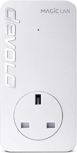 Devolo Magic 2 LAN Starter Kit White 2 x Plugs 1x Gigabit Ethernet Port Per Powerline 2400Mbps Transmission Speeds