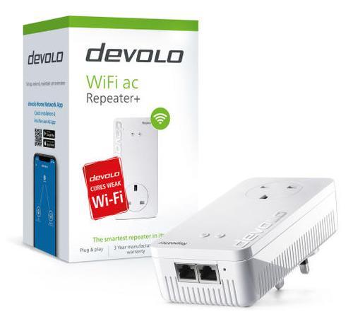 Devolo WiFi AC Network Repeater Plus Multi User MIMO Technology Uninterrupted WiFi Network