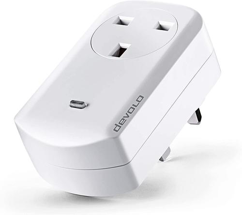 Devolo Home Control Smart Metering Plug White 3000W Time Controlled Activation and Disabling of Connected Devices