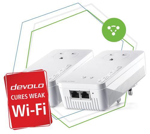 Devolo Mesh WiFi 2 Starter Kit Optimum Mesh Tri Band Additional Gigabit LAN Ports and Power Outlets