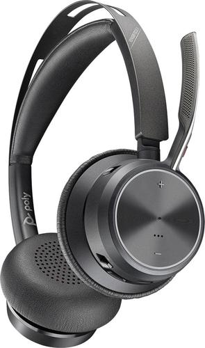 Poly Voyager Focus 2 UC USB A Stereo Bluetooth Headset without Stand ANC Microphone BT700 Dongle Included