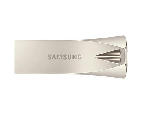Samsung 64GB Bar Plus USB3.1 Flash Drive Champagne Silver Read Speeds of up to 300MBs Write Speeds of up to 30MBs